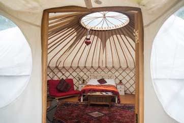 The beautiful entrance into Poppy Yurt.