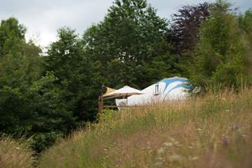 Poppy Yurt will truly provide a very special glamping holiday.