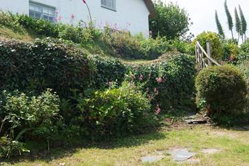 The view from the little garden up behind the cottage, is well worth climbing the steep steps for!