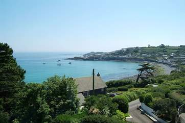 Looking back towards the harbour from the other end of the village.