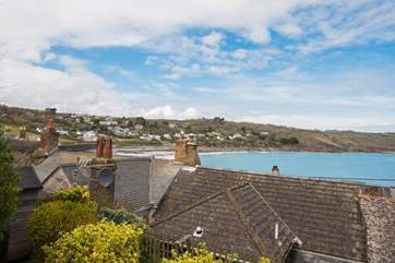 A lovely spot to get a birds eye view of this beautiful seaside village and the bay below.