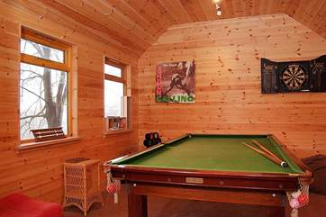 There is a fabulous games-room for all to enjoy.