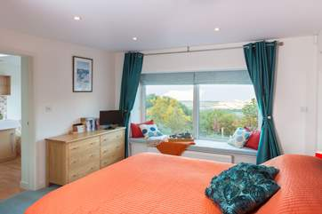 This is the master bedroom - lie in bed and marvel at the panoramic views right across the Bristol Channel.