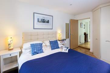 This double bedroom is towards the back of the house past the Japanese cedar bath in its little courtyard