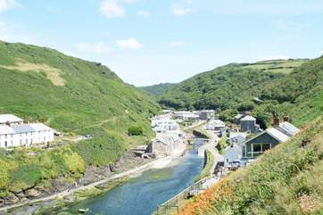 Boscastle Valley is very picturesque and protected by the National Trust.