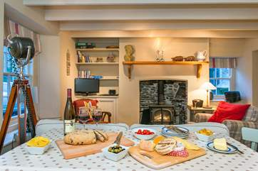 Mealtimes will be a treat in this lovely cottage.