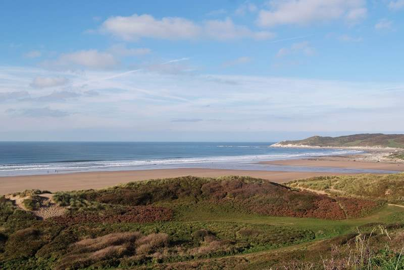 This is one of the fabulous north Devon beaches - Woolacombe. Great for surfing, endless space and long beach walks.