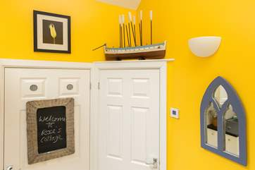 cheerful details add to the character of this cottage