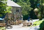 Lamorna Wink pub is the first port of call en route to the Cove (just a ten minute stroll down the lovely leafy lane).