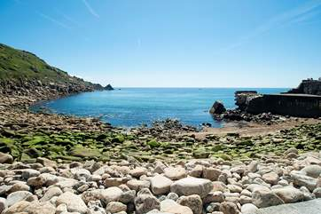 Just fifteen minutes' walk from Lamorna Glamping, down a lovely leafly lane brings you to the delightful Lamorna Cove.