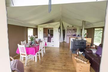 Your glamping holiday has everything you will need from lovely bedding and towels to a whisk and a potato peeler!