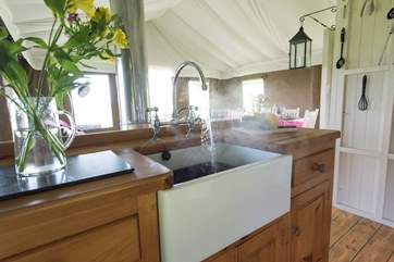 Hot water straight to your kitchen Belfast sink.