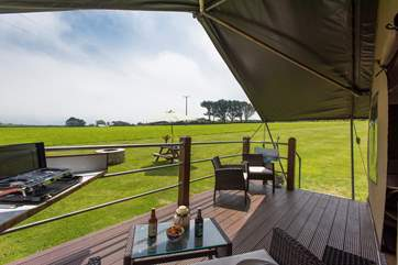 Many hours can be spent enjoying the surroundings and relaxing on the balcony enjoying the countryside setting.