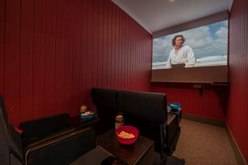 There is also a fantastic indoor cinema room!