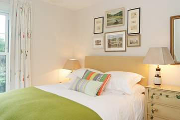 Bedroom 3 has a 5' double bed and looks out over the knot garden at the front of the house.
