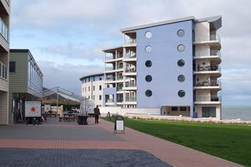 The setting for Neptune, right on the sea front with bars and cafes just a short stroll away.