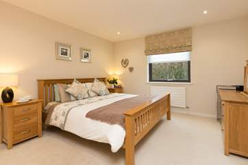 The double bed room is really spacious. It looks out to the rear of the building and is well out of the way of the car park.