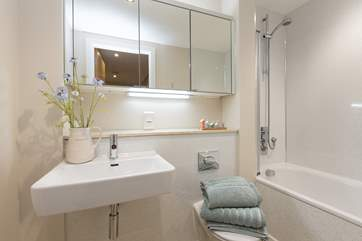 This is the family bathroom, on the same level as the two bedrooms.
