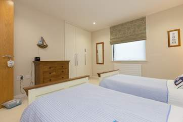 There is plenty of storage space in both the bedrooms.