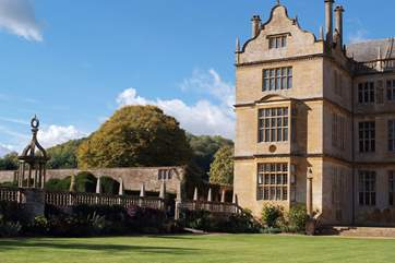 This part of Somerset offers a wealth of historic houses to visit - this is Montacute House, managed by the National Trust.