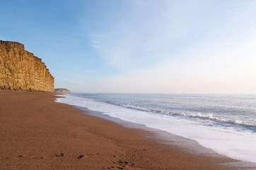 Another view along the stunning Jurassic Coast - this is at West Bay, Bridport - again, an easy drive due south from the cottage.