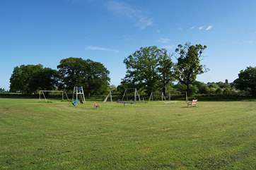 The playing field also has a lovely children's play-area.