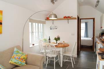 A perfect holiday hideaway nestled away just off the coastal footpath.