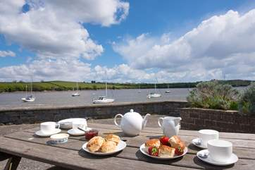 Why not enjoy a Cornish Cream tea - well you are on holiday!