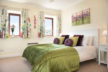 Both bedrooms enjoy the wonderful views.