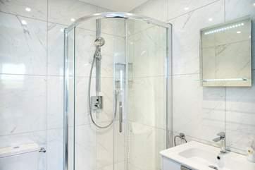 The stylish en-suite shower room for bedroom 2