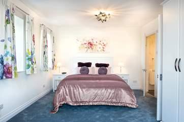 The double bedroom has a super comfy bed