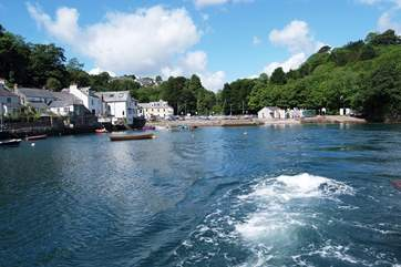 This is the river crossing on the Bodinnick Car Ferry from Fowey to Polruan - arrive in style!