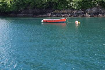 The water in the River Fowey is crystal clear.