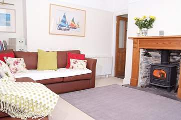 There is a spacious living-room with a wood-burner making this property a great choice throughout the year.