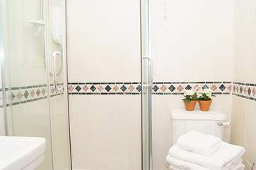 There is a very convenient downstairs shower and WC.