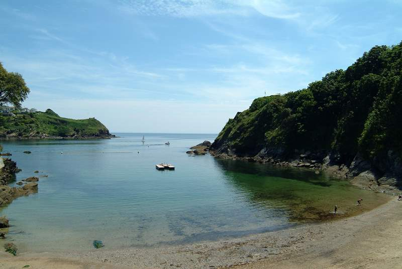 The sheltered bays along the south west coast of Cornwall are beautiful.