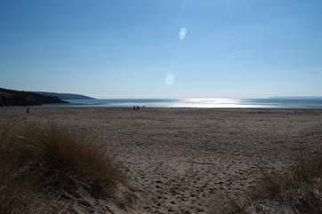 This is the wonderful sandy beach at Par.