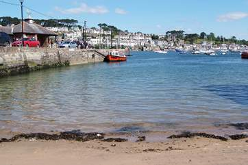 You can catch the little passenger ferry across to Fowey from the quayside in Polruan. You might be lucky enough to see a dolphin swimming alongside it.