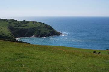 This is the view that is in store for you if you take the coastal path towards Polperro.