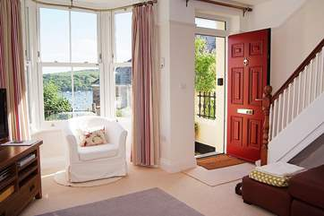The sitting-room has gorgeous views and is such a welcoming room to step into when you arrive.