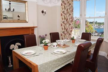 The dining-room also has stunning views and is a lovely place for a celebratory meal.