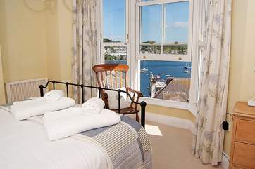 This is the master bedroom - sit in bed with your morning tea and watch the sailing boats setting out.