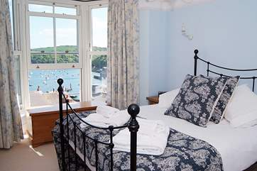 The second double bedroom is as lovely as the first - luxurious bedding and a perfect view.