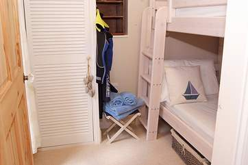 The third bedroom has 3' bunk-beds - comfortable for adults and children alike.