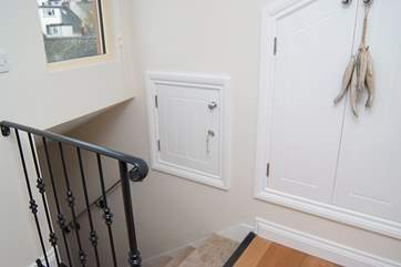 Take care on the stairs as you leave Bedroom 2.