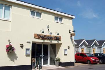 The Clipper is just a short walk away, with a beachside terrace, it serves food all day - the breakfasts are wonderful.
