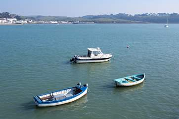 Looking out across the estuary from Appledore Quay, just a couple of minutes walk from the cottage