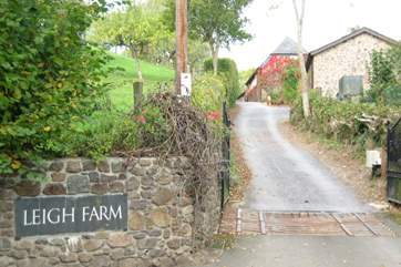 The entrance into Leigh Farm.
