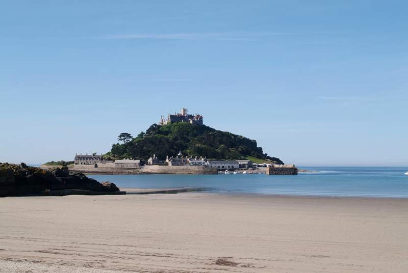 St Michael's Mount at Marazion is accessible on foot along the causeway at low tide.