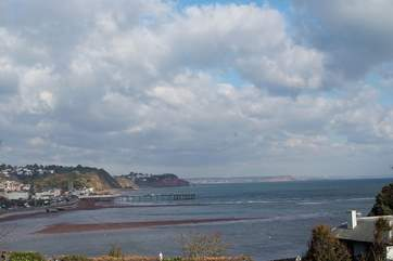 A view of Teignmouth from Ness Head on the other side of the Teign estuary - this is about four miles from the cottage.